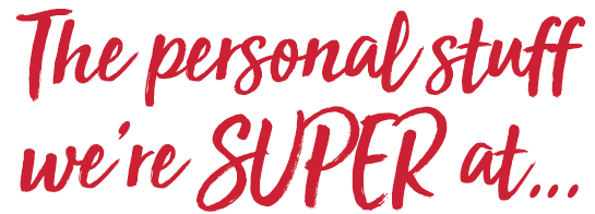 the personal accounting we're SUPER at